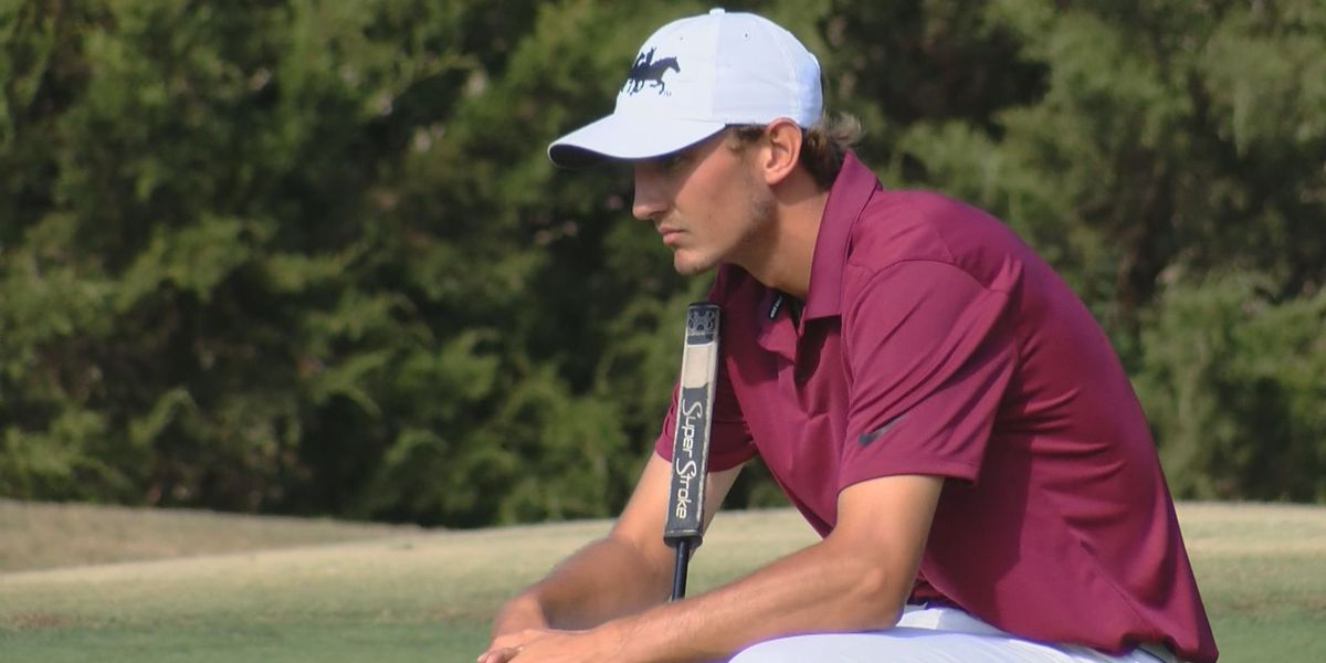 Garrett Leek shoots 8-under 63 to win Individual Title at Midwestern State Invitational
