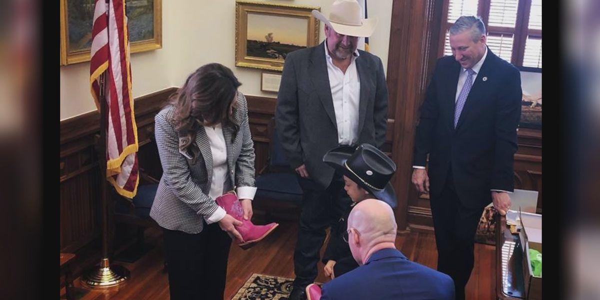 Texoma boot company honors girl, 6, battling rare form of cancer