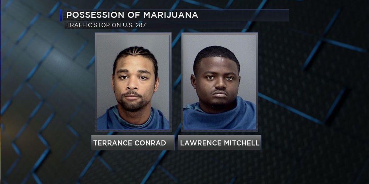 Traffic stop on U.S. 287 yields 7.5 pounds of marijuana