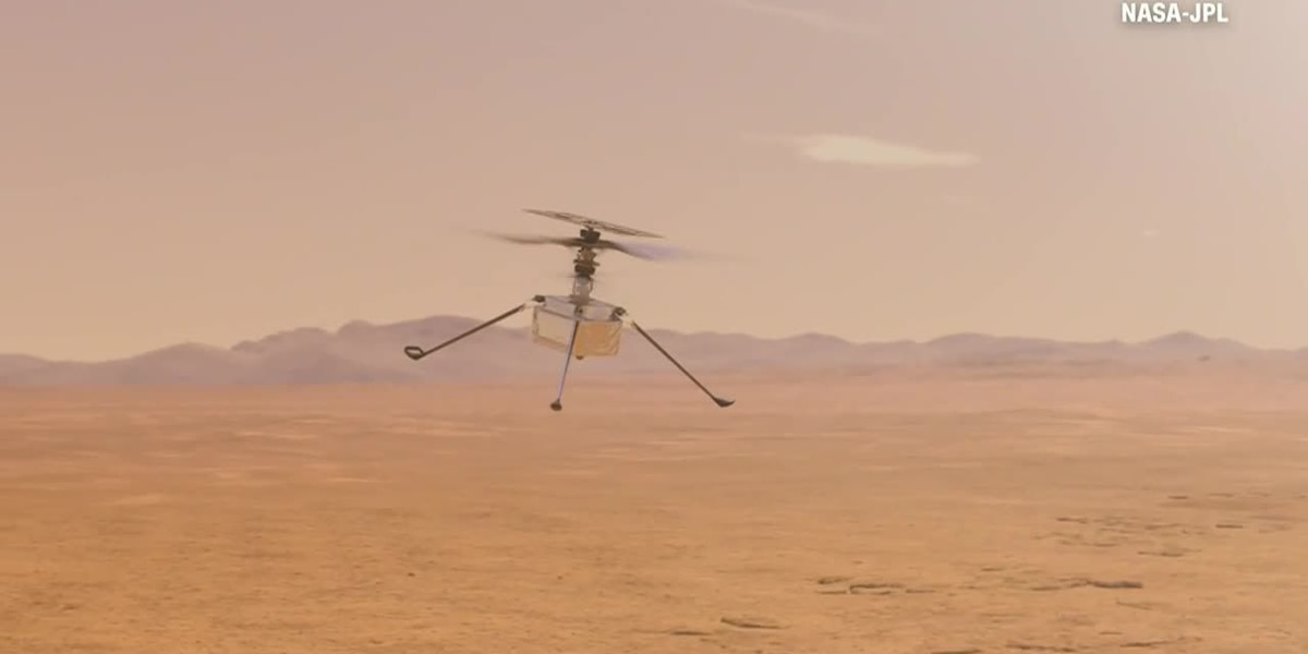 NASA's Mars helicopter takes first flight