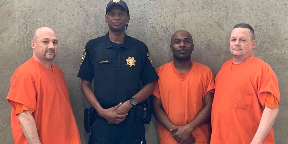 Georgia deputy reunites with jail inmates who saved his life