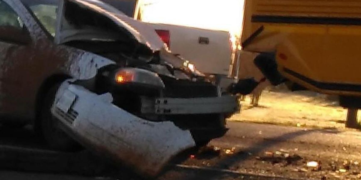 Archer City school bus crash sends two children to the hospital with minor injuries