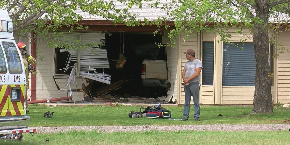 UPDATE: Driver of pickup that ran through house may have suffered medical emergency and passenger air-lifted to OU Trauma
