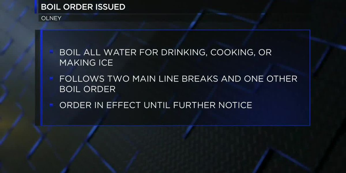 City of Olney issues boil order