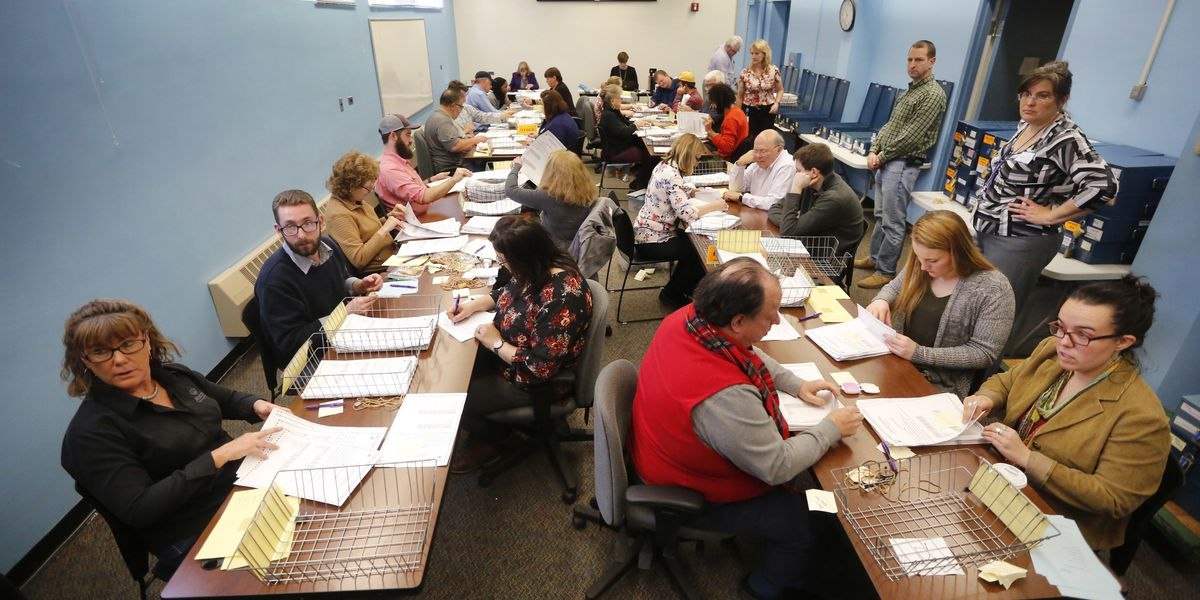 Laborious recount starts in Maine's ranked-balloting race