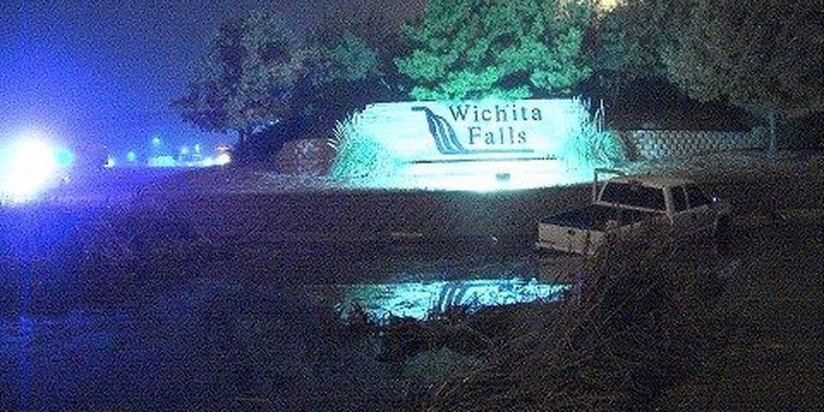 Truck Crashes In Pond