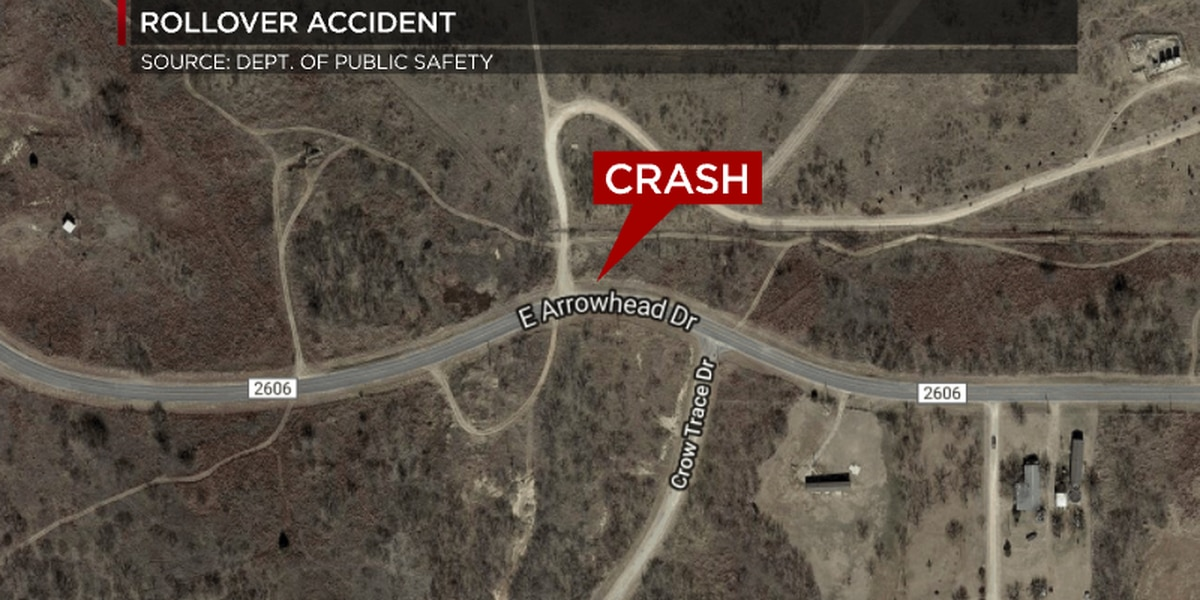 Rollover accident in Clay County