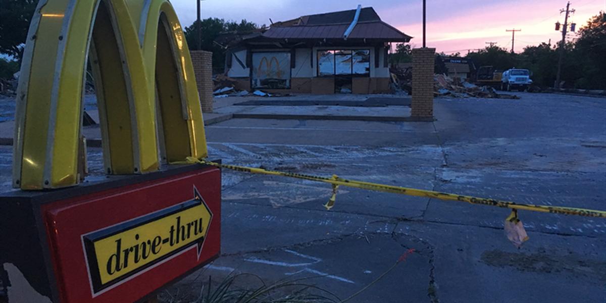 McDonald's on Holliday Street getting rebuilt