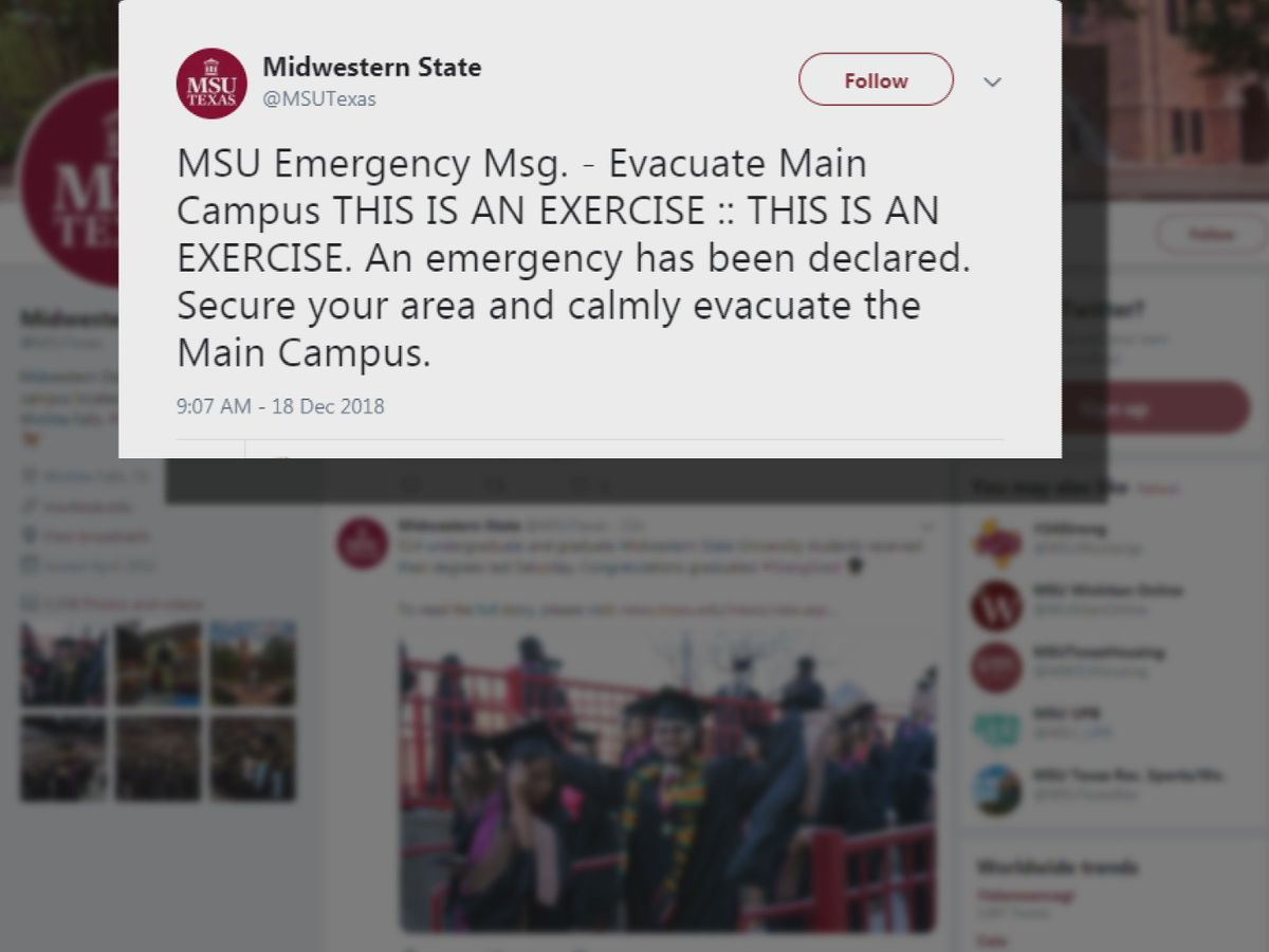MSU tests emergency evacuation plan