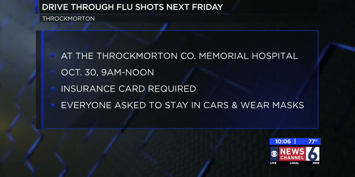 Throckmorton County Memorial Hospital to host drive-thru flu shot clinic