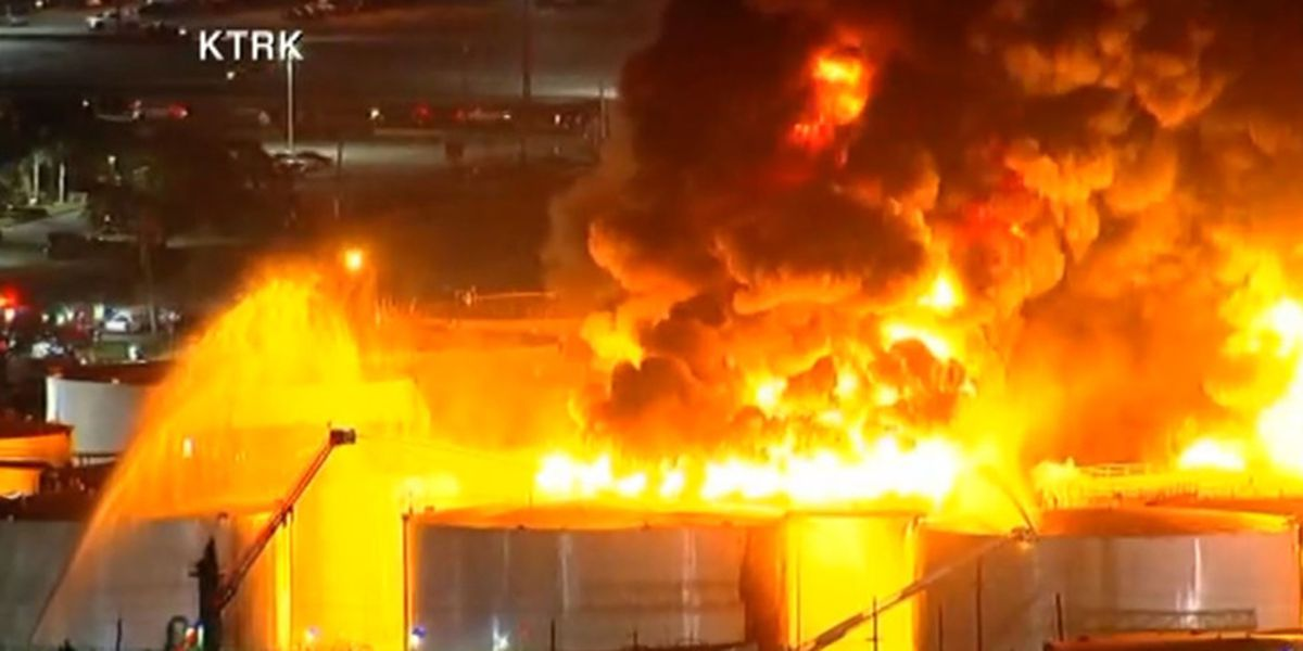 fire spreads at a houston
