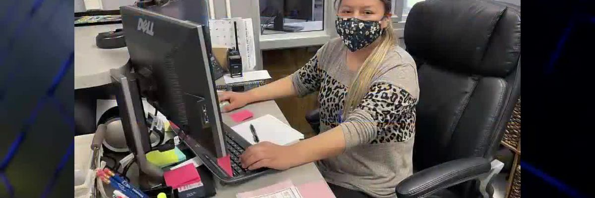 Employee working with former teacher