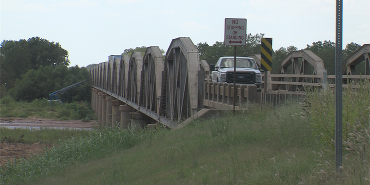 Red River bridge construction begins