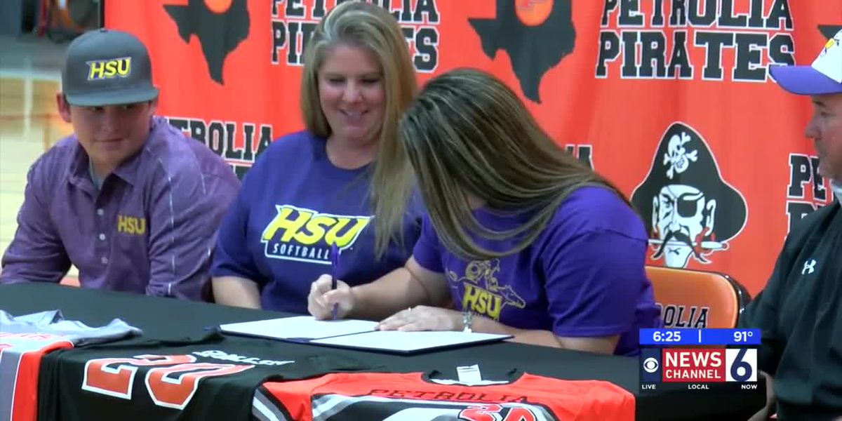 Petrolia's Hannah Holley signs to play at Hardin Simmons University