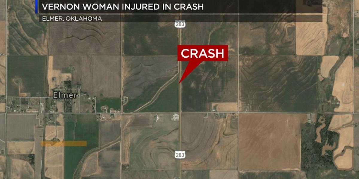 Vernon woman injured in Oklahoma crash