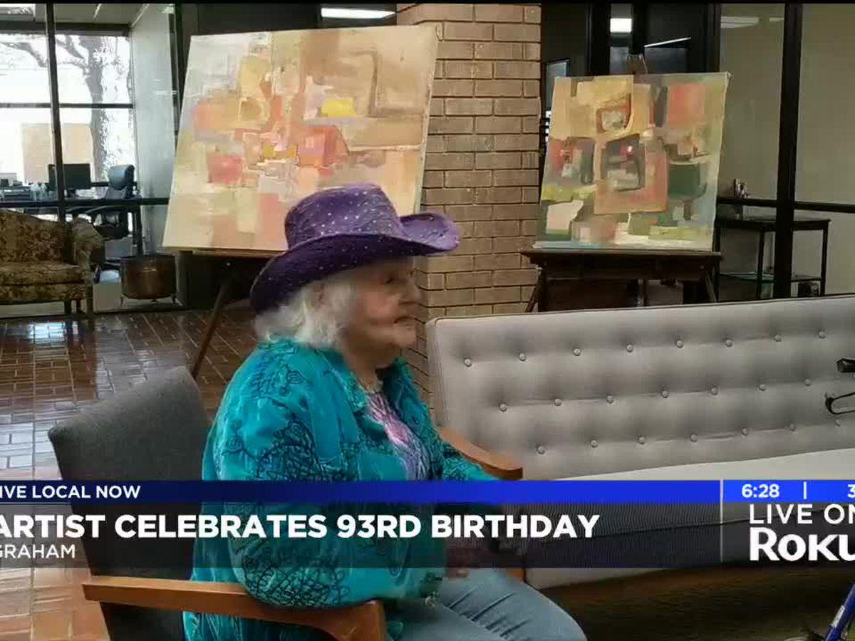 Award winning Graham artist celebrates 93rd birthday