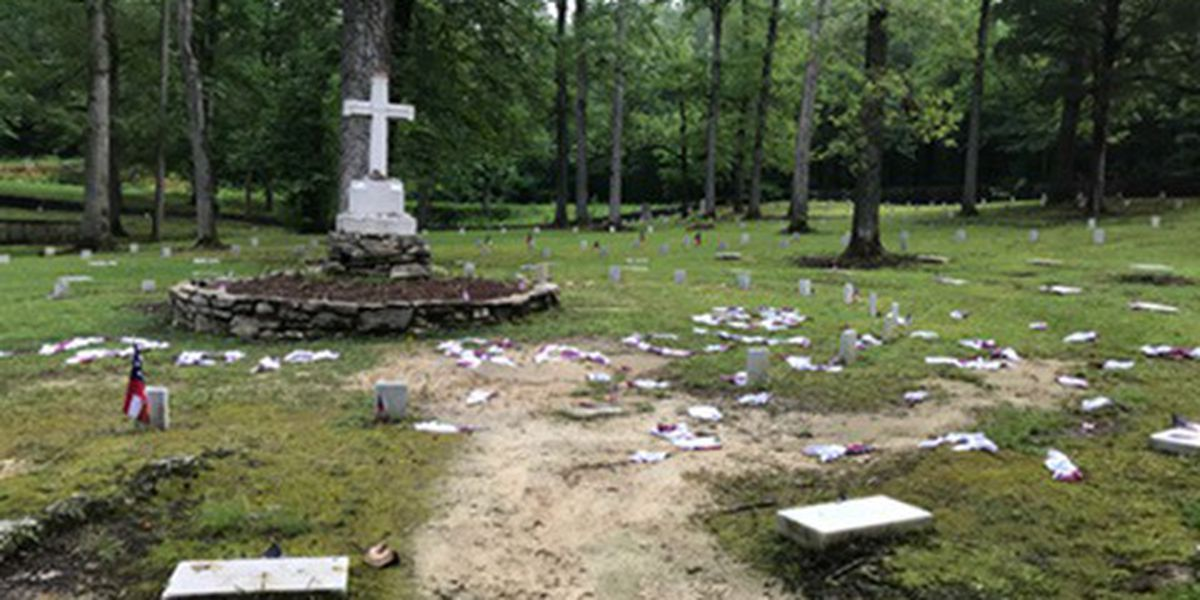 Georgia Confederate cemetery vandalized