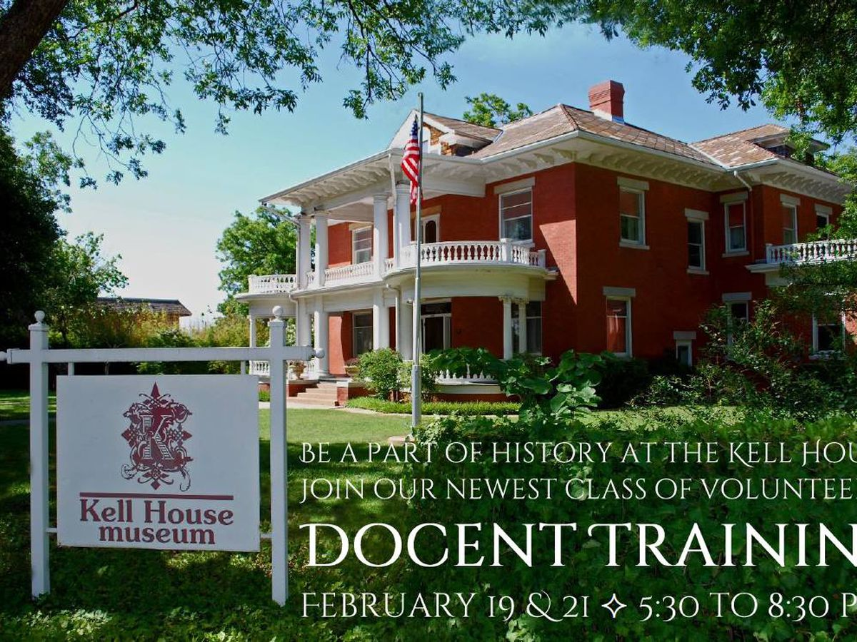 Want to be a docent? Training begins this week at the Kell House Museum