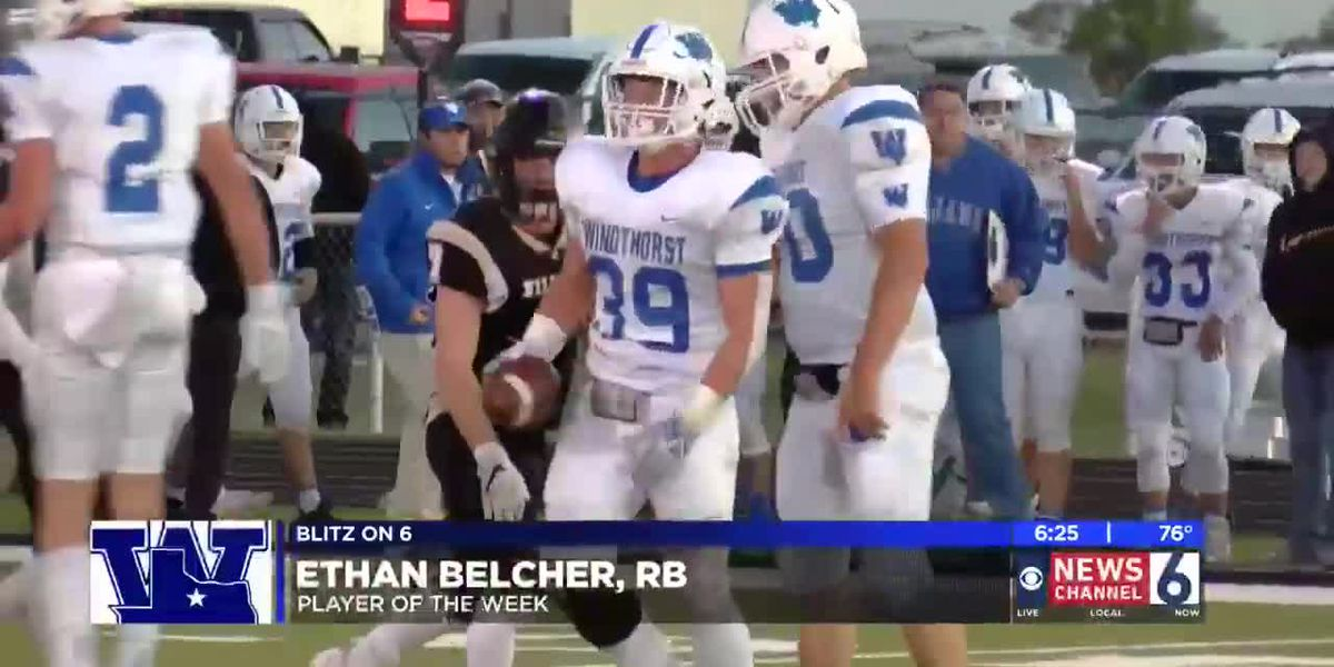 Ethan Belcher named Blitz on 6 Player of the Week