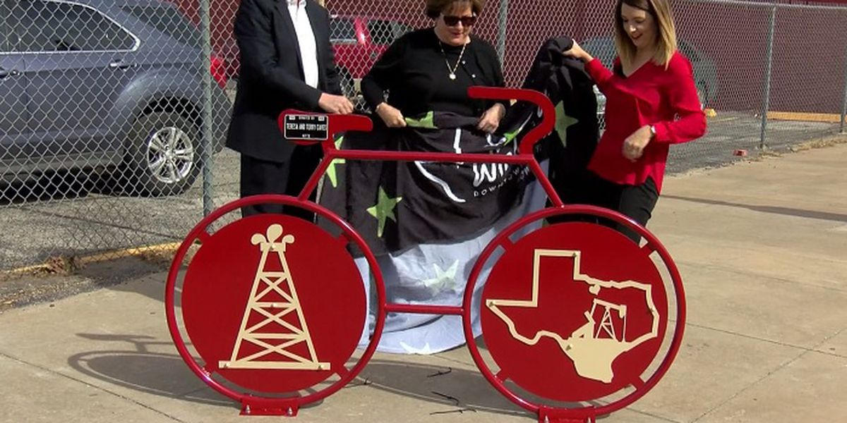 New bicycle rack unveiled in downtown Wichita Falls