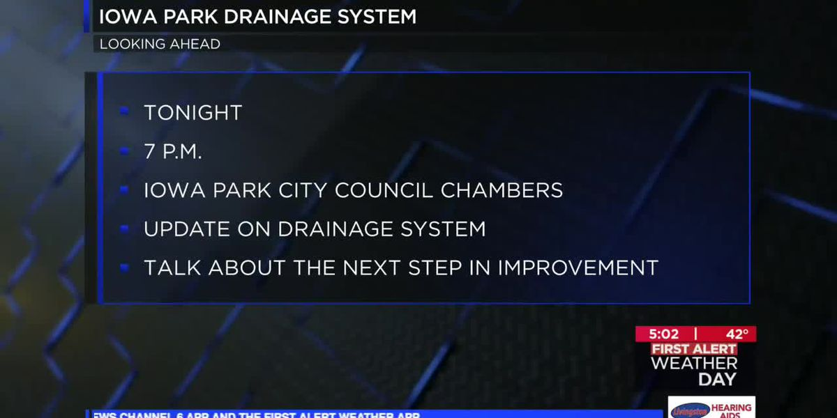 Iowa Park drainage system meeting
