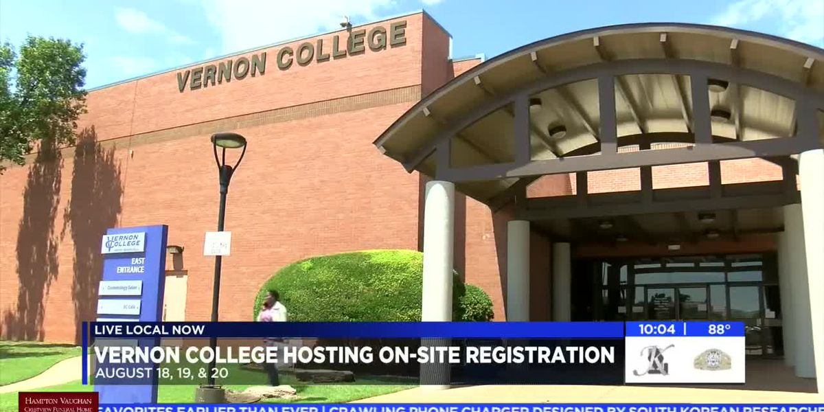 Vernon College hosting on-site registration to help last minute students