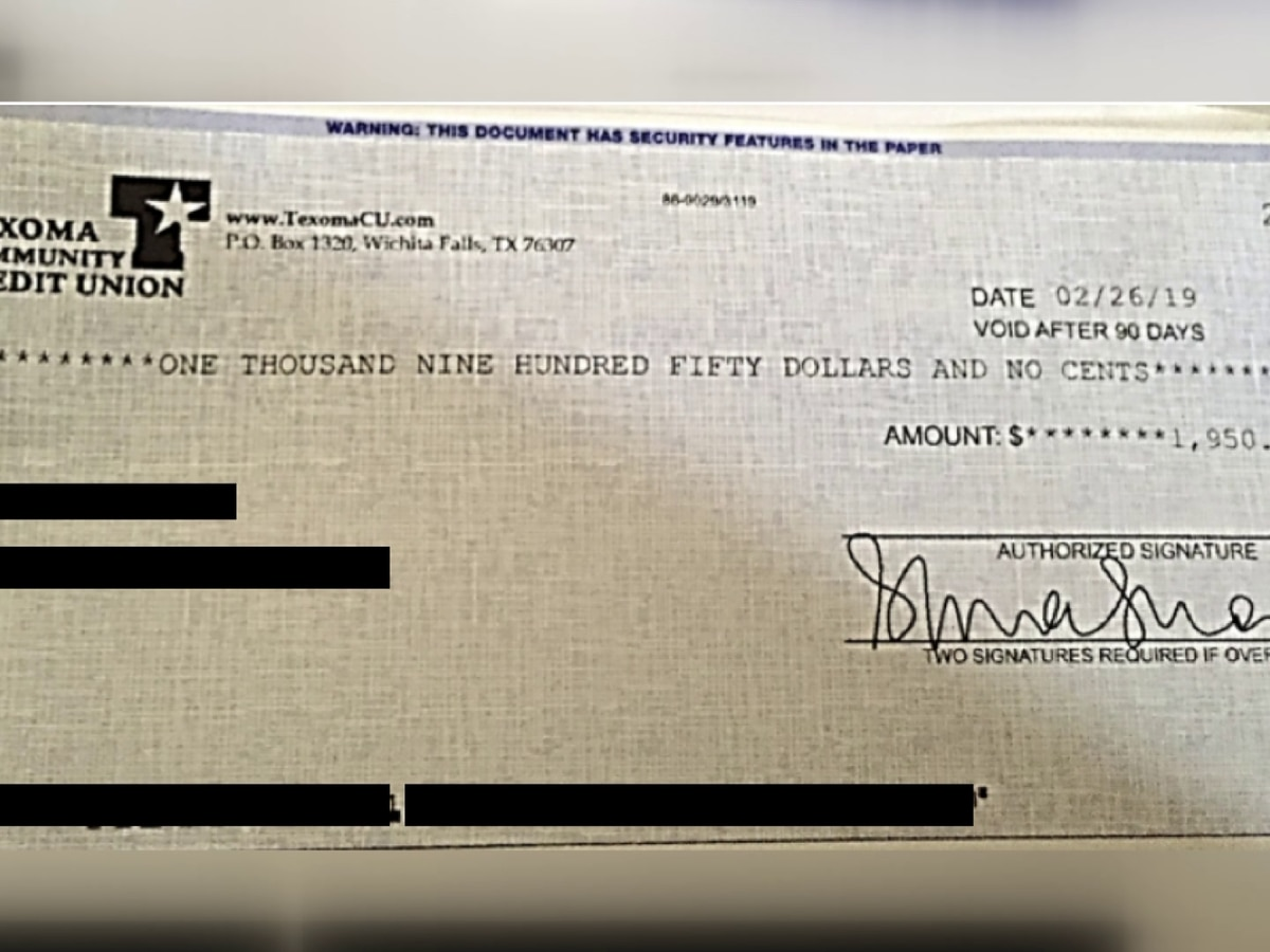 TCCU warns customers of fraudulent checks