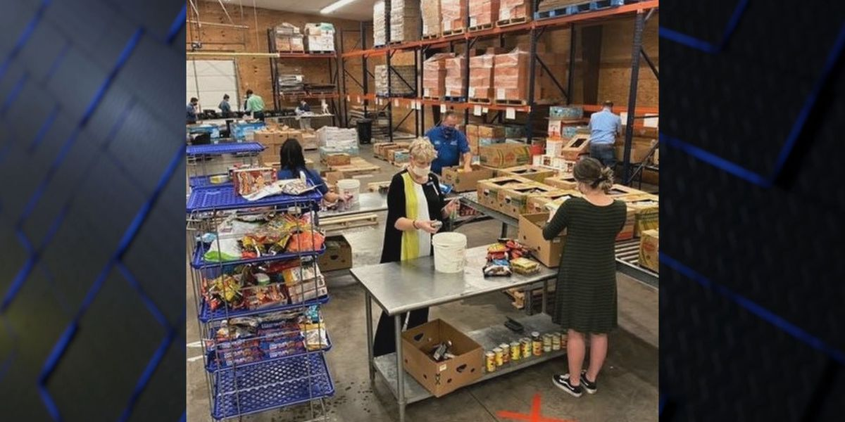 Leadership WF packs 2,895 pounds of food for food bank