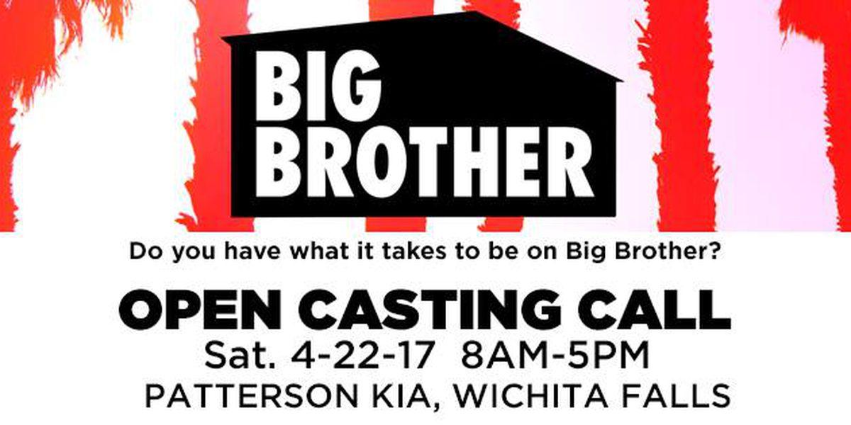 Big Brother casting call in Wichita Falls tomorrow