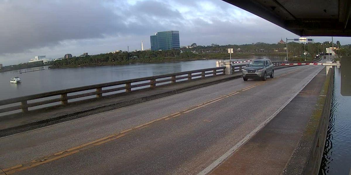 Driver takes SUV airborne over rising Florida drawbridge