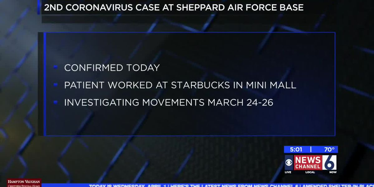 Second COVID-19 case confirmed at Sheppard AFB