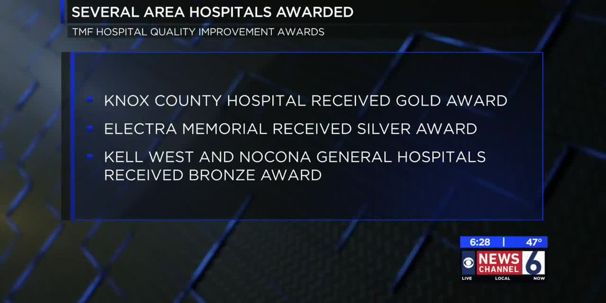 Local hospitals honored with Quality Improvement Awards