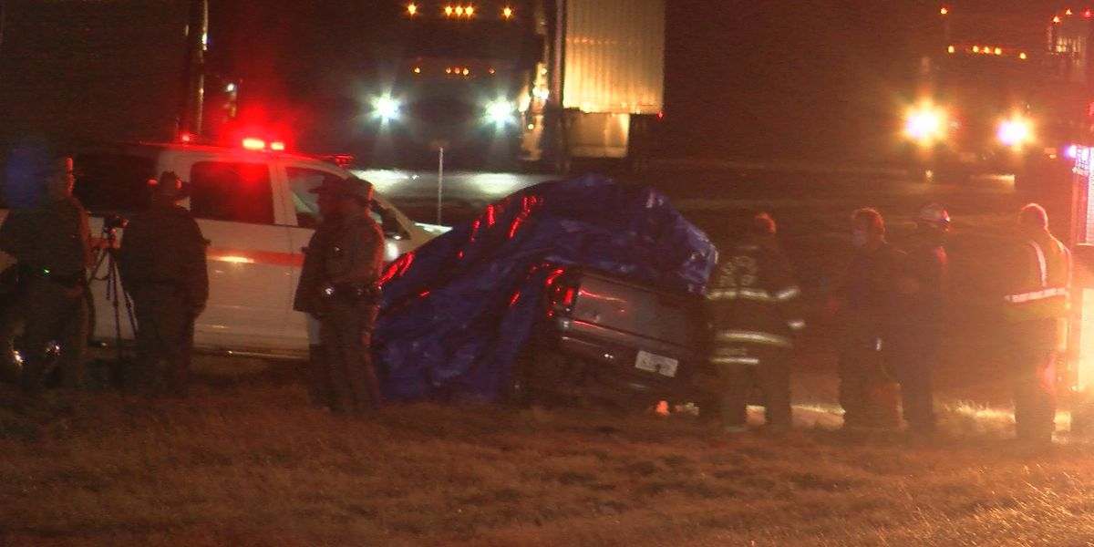 Car crash involving semi trailer leaves two people dead on Highway 287