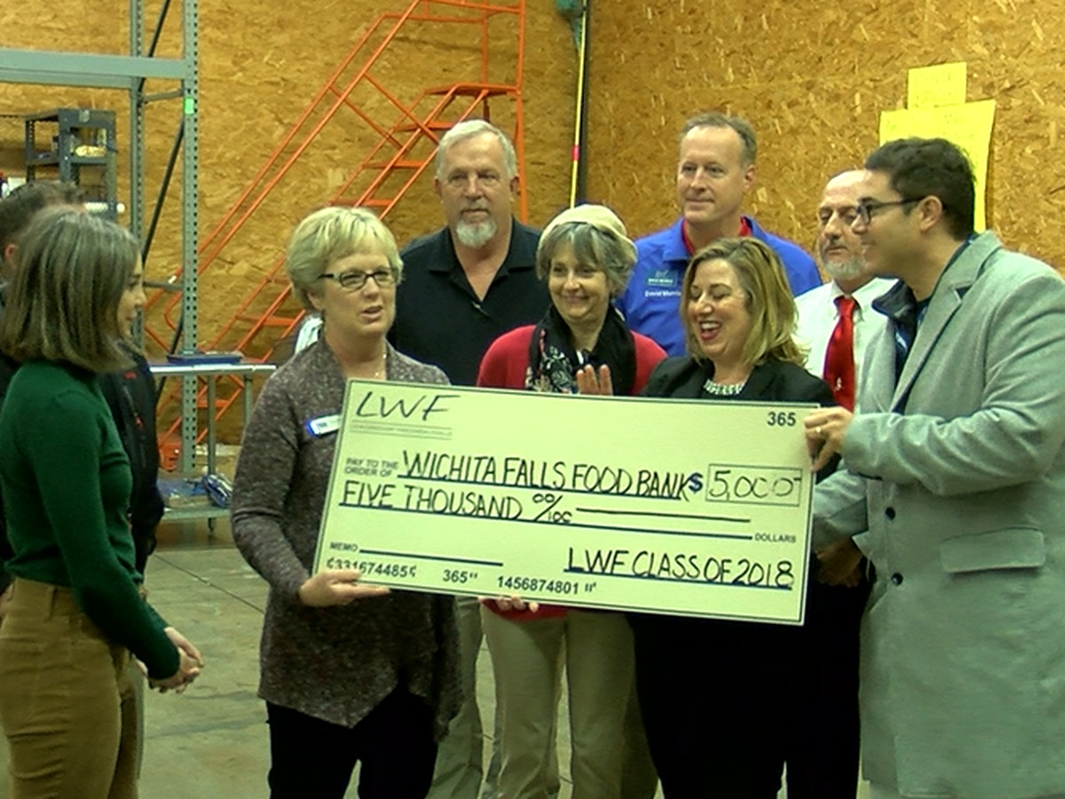 Leadership Wichita Falls presents food bank with $5K check