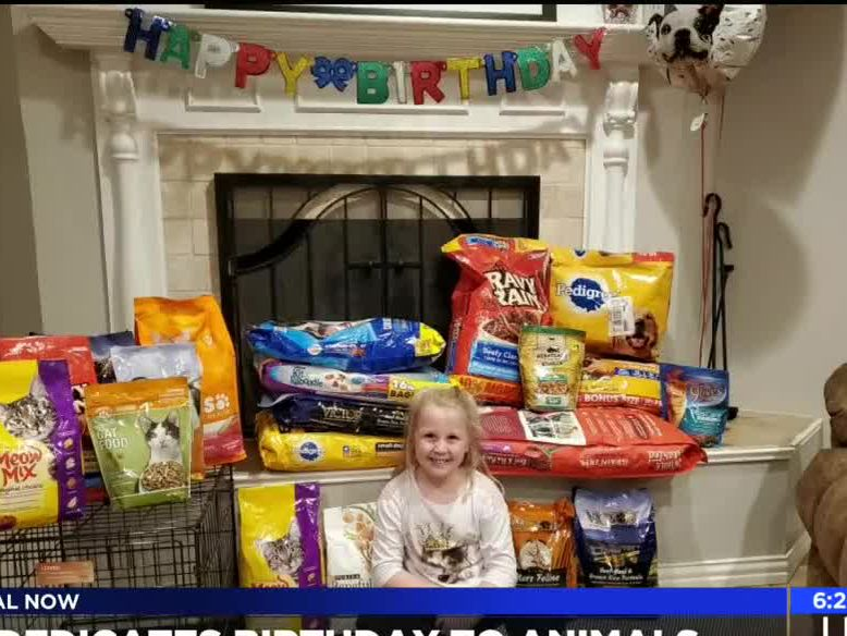 8-year-old donates her birthday to P.E.T.S.