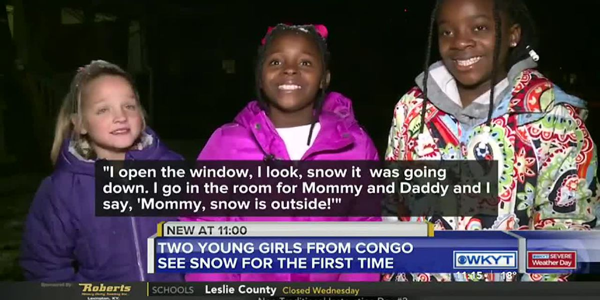 Girls from Congo see their first snow